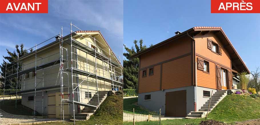 avant-apres01 ISOLATION EXTÉRIEURE à Annecy en Haute-Savoie